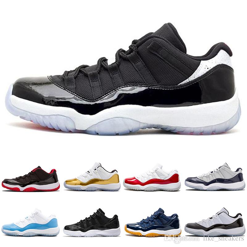 2019 New Concord 11 Bred 11s Men Wholesale Basketball Shoes Platinum Tint Space Jam Blackout 11 prom night black Free shipping