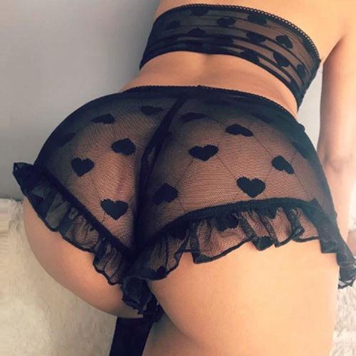 Bayan Sexy Lingerie Kalp Şekli Baskı Dantel Lingerie Seksi Sıcak Erotik Babydoll Yüksek Streç G-string Seksi Iç Çamaşırı Babydoll S-XL
