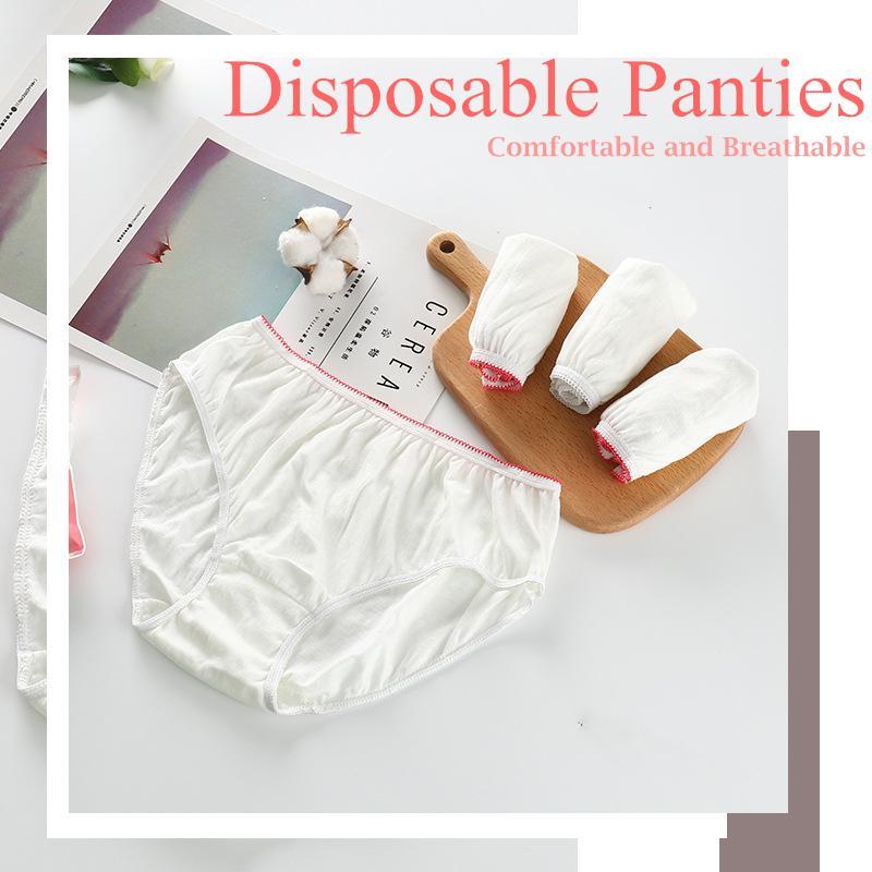 7PCS Disposable Cotton Women Ladies Female Paper Panties Brief Underwear