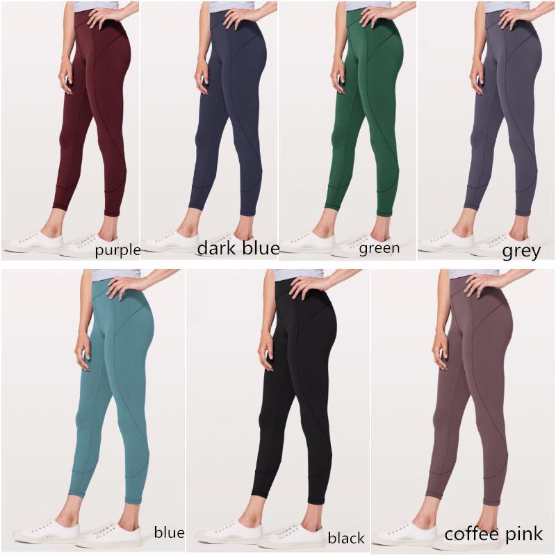 Pantaloni Donne Ragazze lunga esecuzione ghette delle signore a rapida essiccazione Yoga casuale Outfits per adulti sportivo L8804 Esercizio Fitness Wear