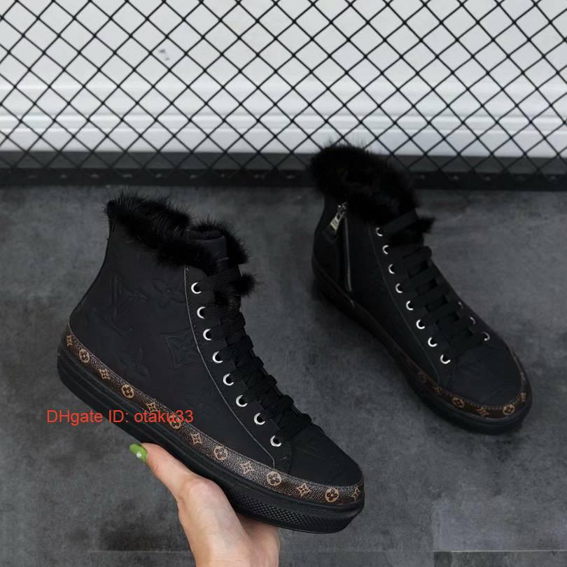 Top des nouvelles femmes Chevalier Bottes de cowboy femmes Shoes Expédition gratuite Platform Ankle Boots Chaussures Hiver Noir Vraiment