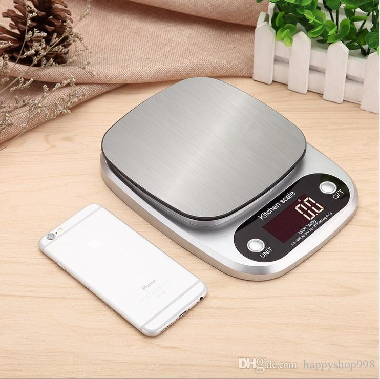 Free shipping Food Scale 0.1g-3kg Small Gram Electronic Digital Kitchen Scale With Multifunction For Food Baking Cooking Measurng Weight