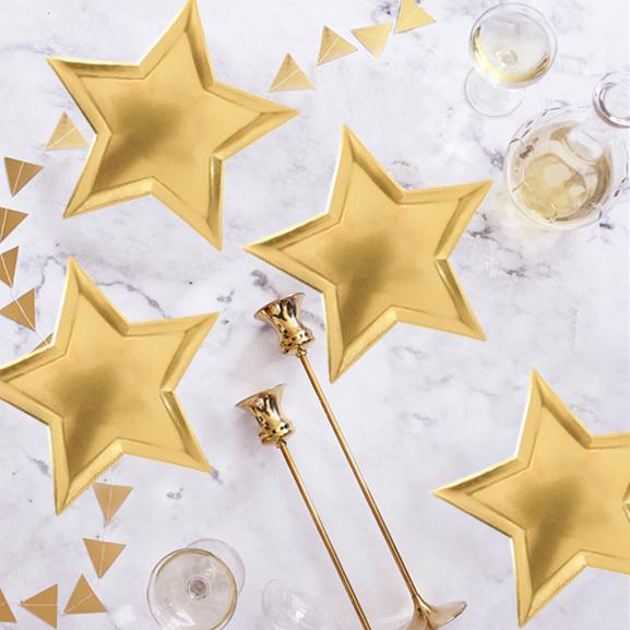 2020 Foil Silver Star Shaped Paper Plates Disposable Tableware Metallic Gold For Christmas Birthday Wedding Party Supplies From Magicalparty 55 78 Dhgate Com