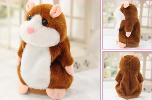 Parler Hamster en peluche 15cm Belle Mignon Speak Parler de son enregistrement Hamster jouets parlants souris en peluche Pet