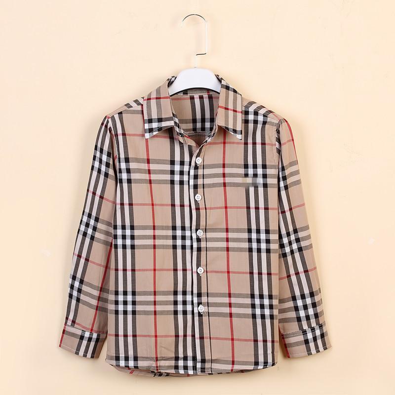 Детская одежда большой Tong Gezi рубашка с длинным рукавом рубашки большая детская одежда 2019 весна модели мальчика рубашка