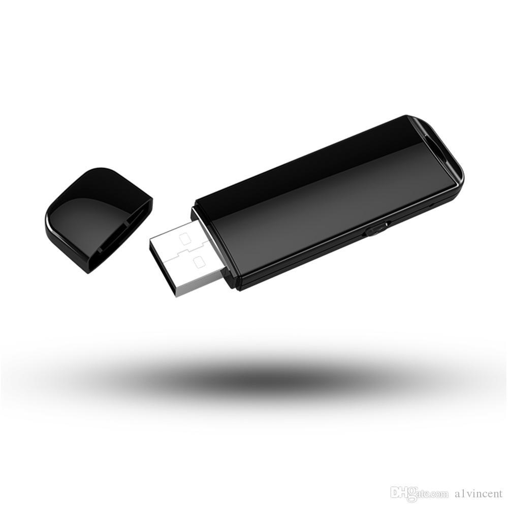 محرك فلاش USB الفاخرة الصغيرة مسجل صوت 4GB 8GB البسيطة غير مرئية جهاز الصوت تسجيل الصوت U القرص الإملاء