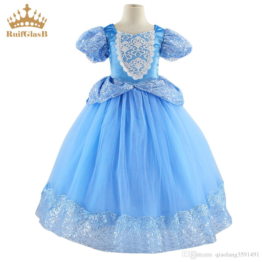 18 RuifGlasb Kids Dresses For Girls Princess Cinderlla Robe Pour Fille  Children Aniversario Kleider Fantasy Cinderella Clothing From