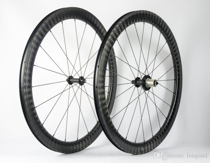 Road bike mountain bike carbon fiber rim 700C depth 25mm, basalt brake side bicycle wheel set 12K UD matte gloss