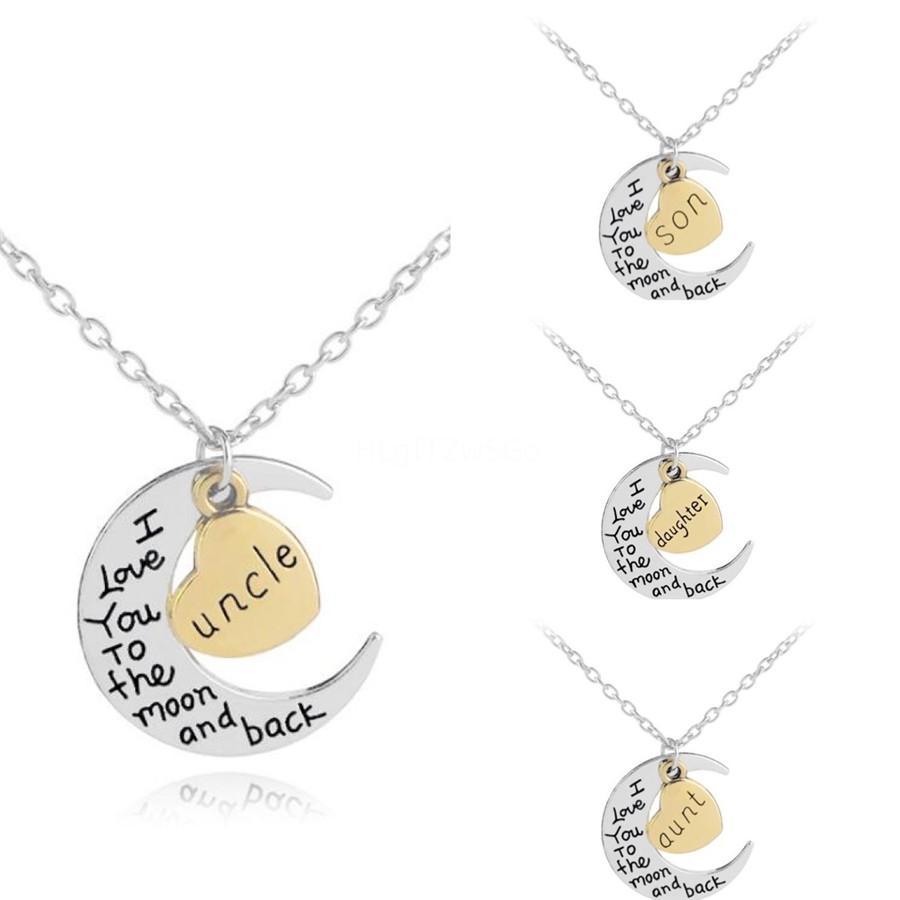 Yan Kişiselleştirilmiş Harf İsim Kolye İlk Altın Gümüş Kaplama Paslanmaz Çelik Kolye kolye İçin Kadınlar En Hediye Gb1530 # 185