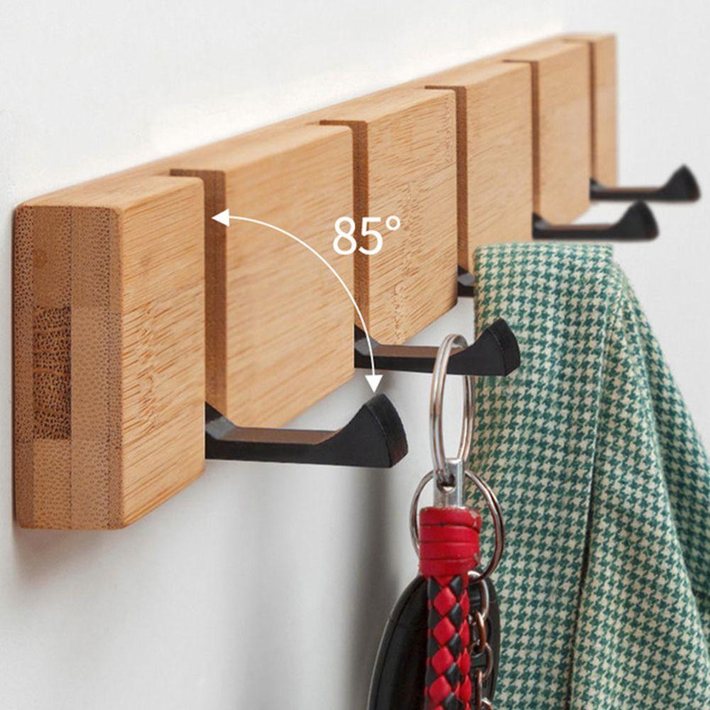 يعلق على الحائط معطف الرف خالية من لكمة رفوف العائمة رفوف الحائط الخشب التخزين مع خطاف للنوم وحمام غرفة مكتب