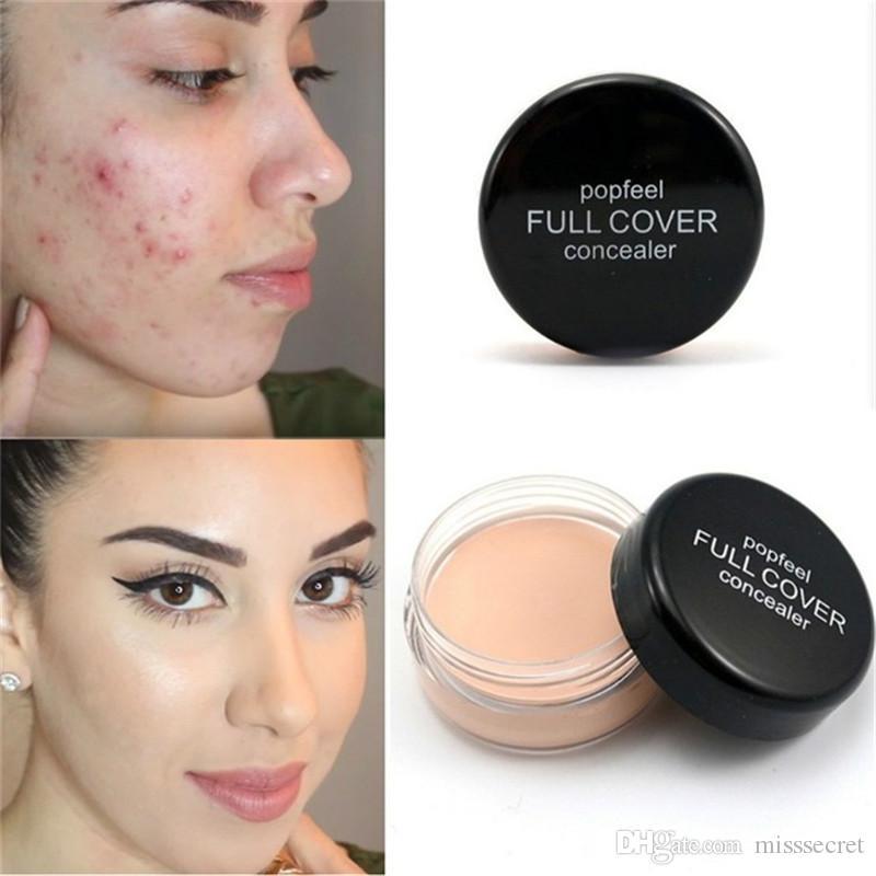 Popfeel Viso Concealer Cream Viso Cover Blemish Hide Dark Spot Eye Contorno labbra Makeup Liquid Foundation Maquiagem