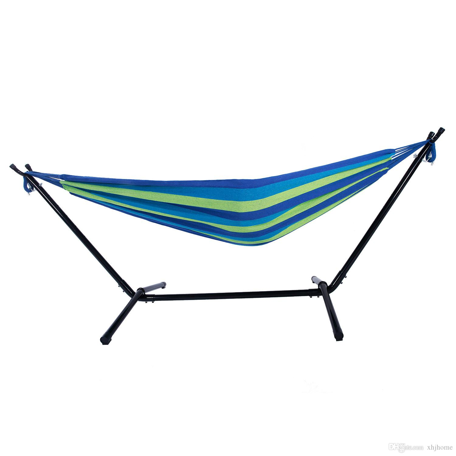 2019 Portable Outdoor Polyester Hammock Set Blue Hammock Hanging Seat Hanging Rope Chair Hanging Chair For Outdoor Camping Beach Garden From Xhjhome