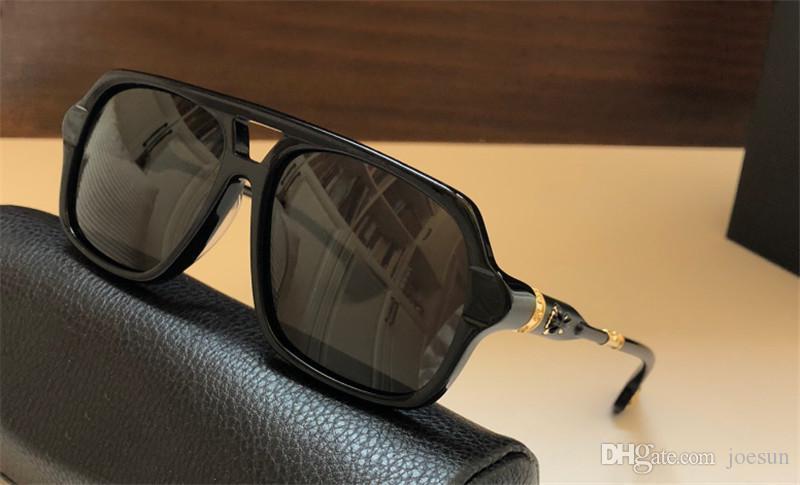 Novas retro homens populares óculos escuros de grife BOXLUNCH estilo do punk retro moldura quadrada qualidade superior da lente anti-raios ultravioleta, com caixa de couro