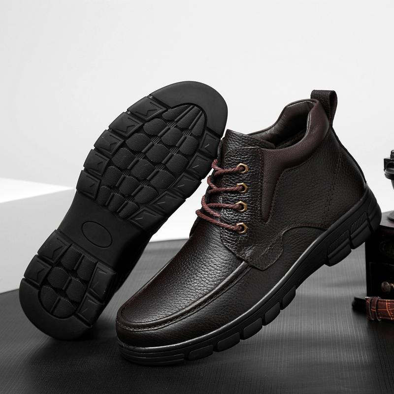 große Größe 48 Herren Boots Outdoor-Winter-Plüsch-Pelz-warme Stiefel Schnee Männer Turnschuhe arbeiten Knöchel-Stiefel Freizeitschuhe Botas hombre s5