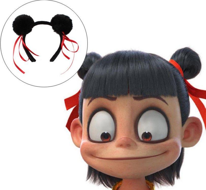 Yeni Nezha Headdress Şeytan Çocuk Chao Meng Hapları Saç Süsler Yetişkin Çocuk Güzel Sıcak satış Saç Çember
