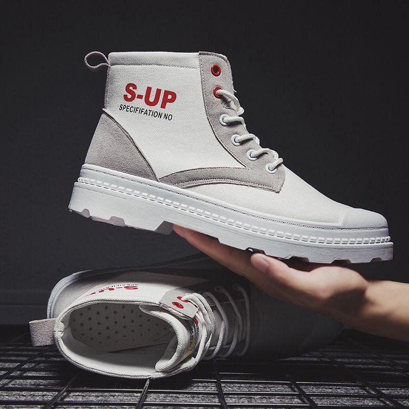 Популярные новые мужские ботинки тенденция сапоги Мужские волчьи обувь кроссовки осенью и зимой 2020 Урожай высокой верхней холст Martin моды