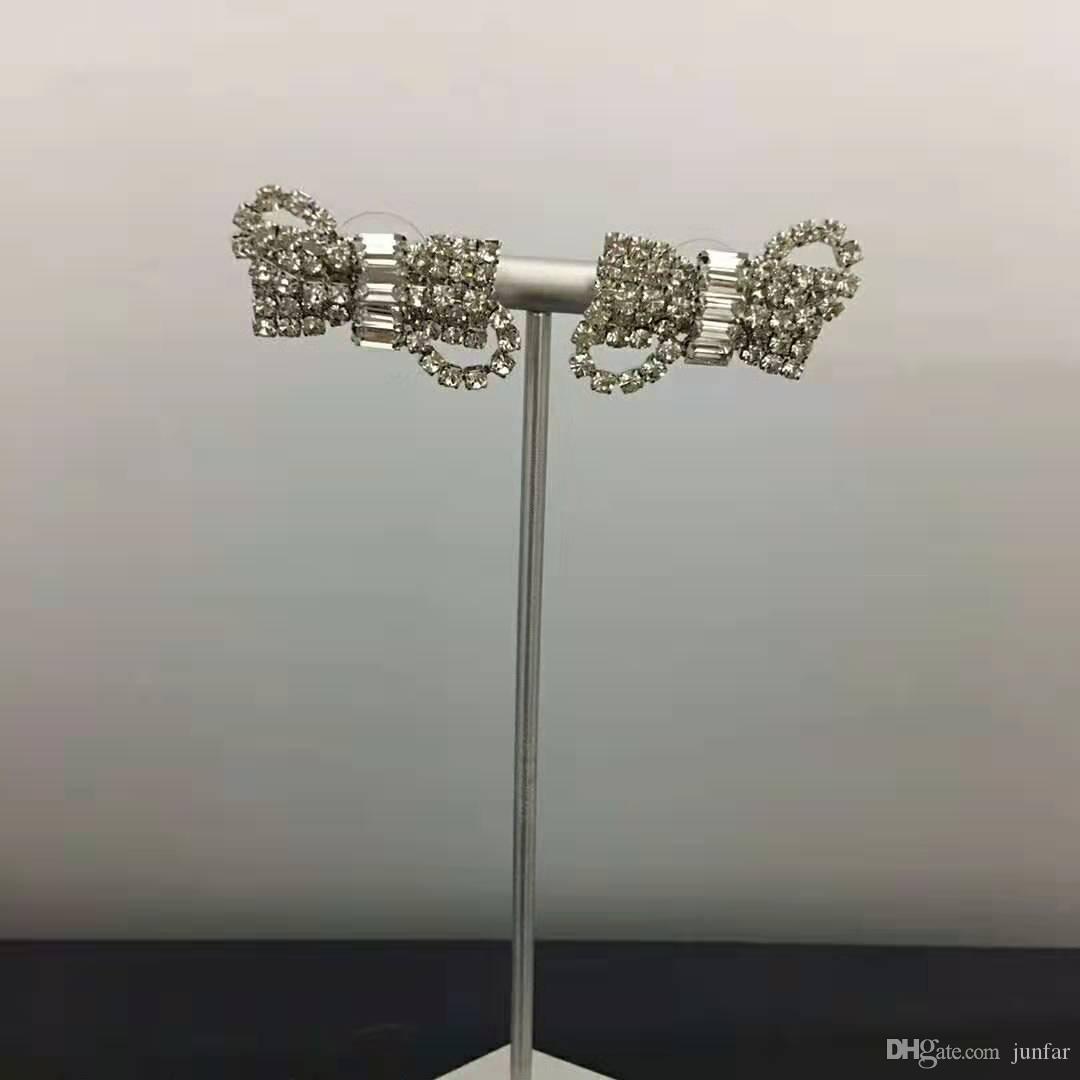 Nouveautés design de luxe femme Boucles d-oreilles papillon en strass pour les femmes fête de la mode Livraison gratuite bijoux
