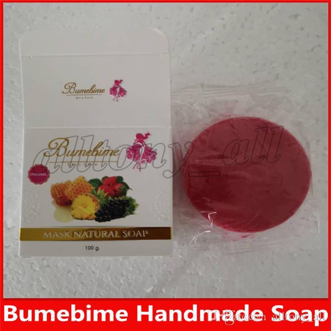 2019 Bumebime Mask Natural soap Skin Body Natural Whitening Soap Handmade Soap Double White free shipping
