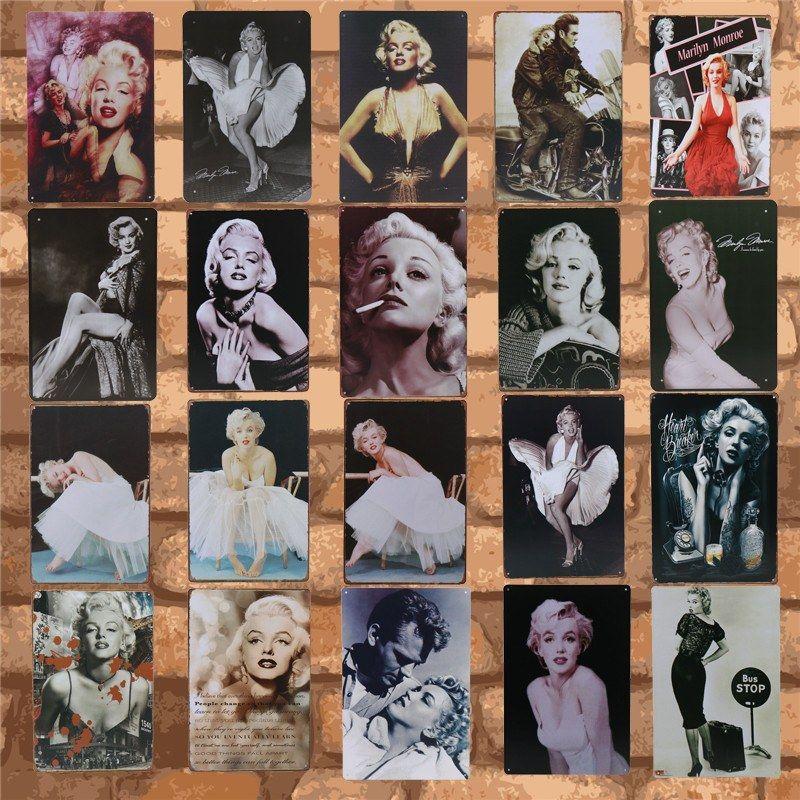 Plak Metal Tabelaları Retro Ev Tenten Dekorasyon Boyama Klasik Film Seksi Güzellik Kızlar Duvar Çıkartma Pub Kulübü Vintage Metal Plaka Sanat Demir
