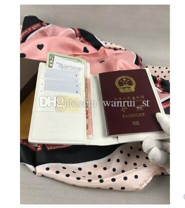 Nagelneue Qualität Passdecke Frankreich Paris Stil Designer Klassische Männer Frauen Berühmte Reisepass ID GY Kartenhalter Mit Box