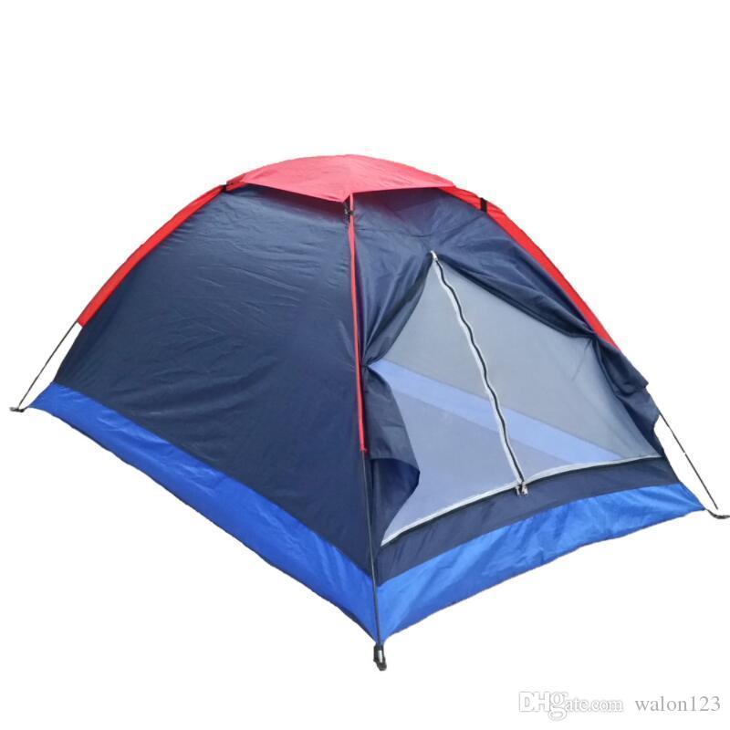 2 persone tende da campeggio singolo strato tenda della spiaggia di corsa esterna antivento impermeabile Tenda Tenda Estate tenda con il sacchetto di trasporto
