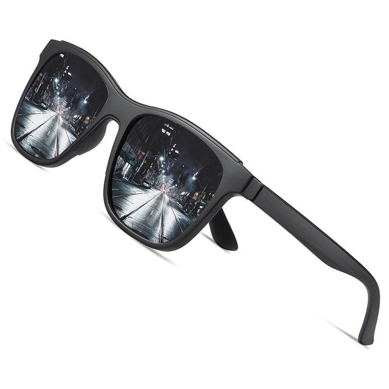 AOFLY Brand Design 2020 Marco de gafas de sol polarizadas de los hombres TR90 espejo de la manera de conducción Pesca gafas de sol Hombre zonnebril heren UV400