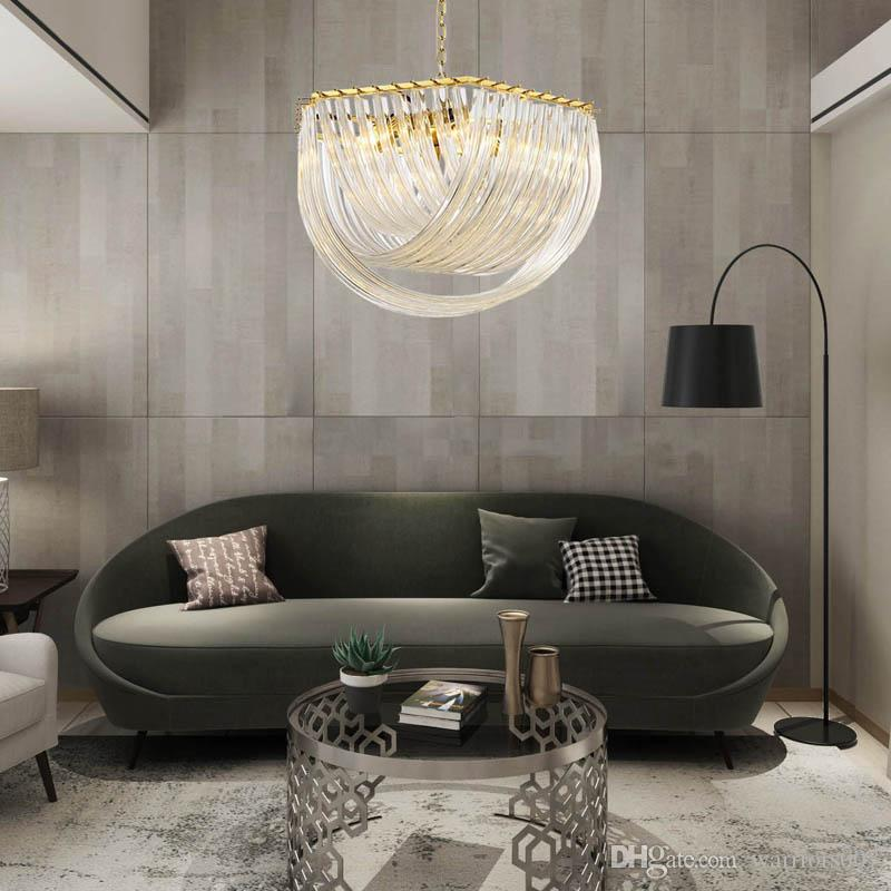 Nordic Creative Chandelier Living Room Lights Minimalist Personality Designer Decorative Lights Glass Villa LED Hang Lamps Large Chandelier Chandelier Candle Covers From Warriors007, $230.39| DHgate.Com