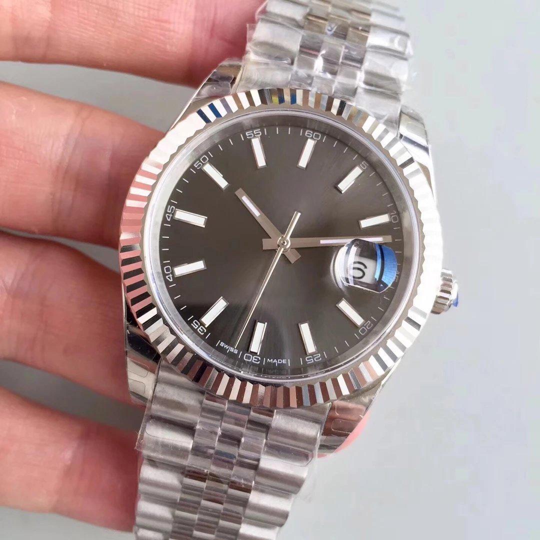 العلامة التجارية الأعلى 126234 روليكس الساعات أزياء الرجال ووتش الميكانيكية التلقائية ريلوخ الأعمال الصلب المشبك الفولاذ المقاوم للصدأ ترف الرجال ووتش