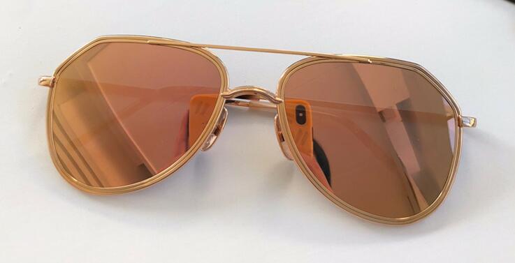 Atacado-novo designer de moda tonca óculos de sol 018 estrutura de metal de alta qualidade simples estilo clássico uv 400 proteção homens ao ar livre eyewear