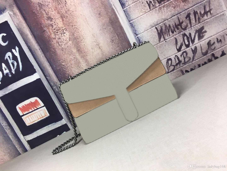 Fashion Luxury Woman Designer-Handtaschen-echtes Leder-Qualitäts-Beutel-Ketten-Kreuzkörper Messenger Bag Mini Schultertasche Handtasche Tasche