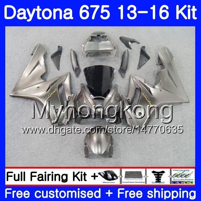 Серебристо-серые горячие боди для Triumph Daytona 675 2013 2014 20 15 2016 Bodywork 328HM.26 Daytona675 Daytona-675 Daytona 675 13 14 15 16 Обтекатель