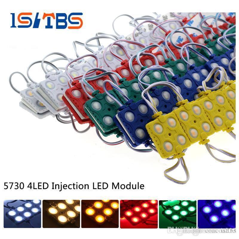 Светодиодные ленты 5730 светодиодный модуль 4LEDs DC12V водонепроницаемый открытый точечных светильников для рекламы этап 20пк/Лот подсветка
