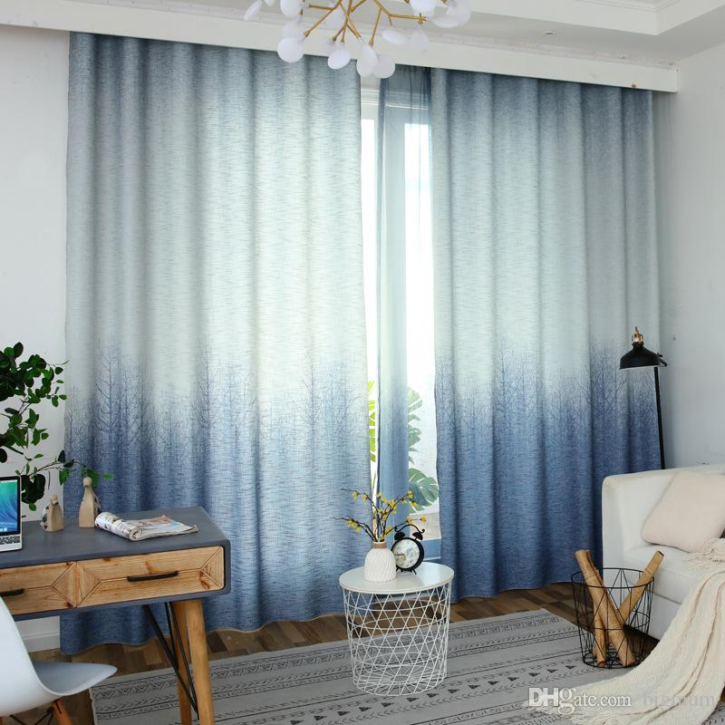 2019 Curtains For Living Room Bedroom Blackout Kitchen Luxury Window 2019  New Gradient Printed Curtain Fabric From Bigmum, $17.65 | DHgate.Com
