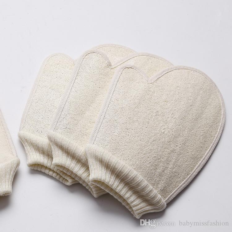 2020 Natural Loofah Sponge Bath Gloves Skin Scrubber Loofah Sponge