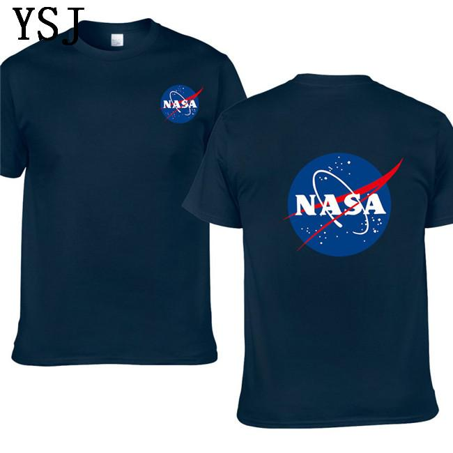 2020 New NASA Space tshirt Retro T-shirt Men Cotton Shirts Fashion brand Nasa Print Shirt Men Short Sleeve T-shirt summer wear EL-4