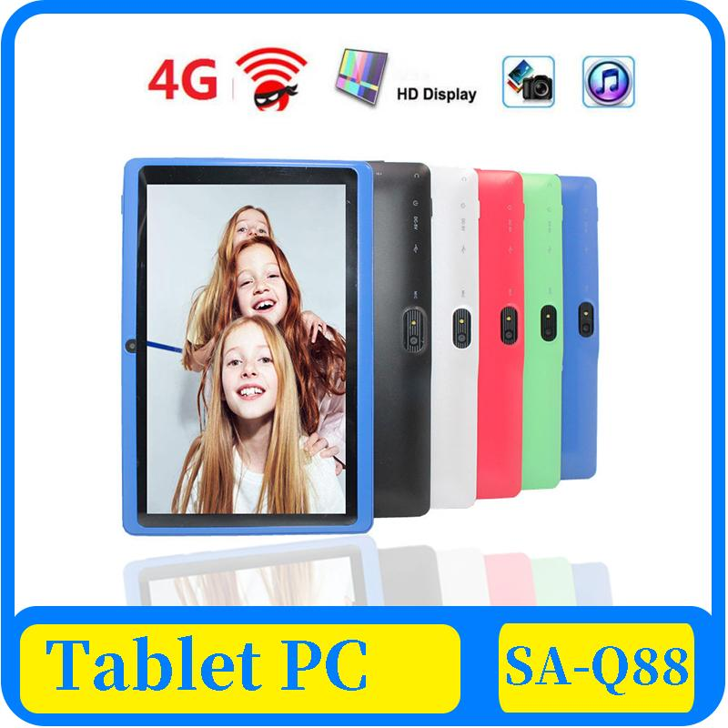 43X 7 inch Capacitive Allwinner A33 Quad Core Android 4.4 dual camera Tablet PC 8GB RAM 512MB ROM WiFi EPAD Youtube Facebook Googl panel pc