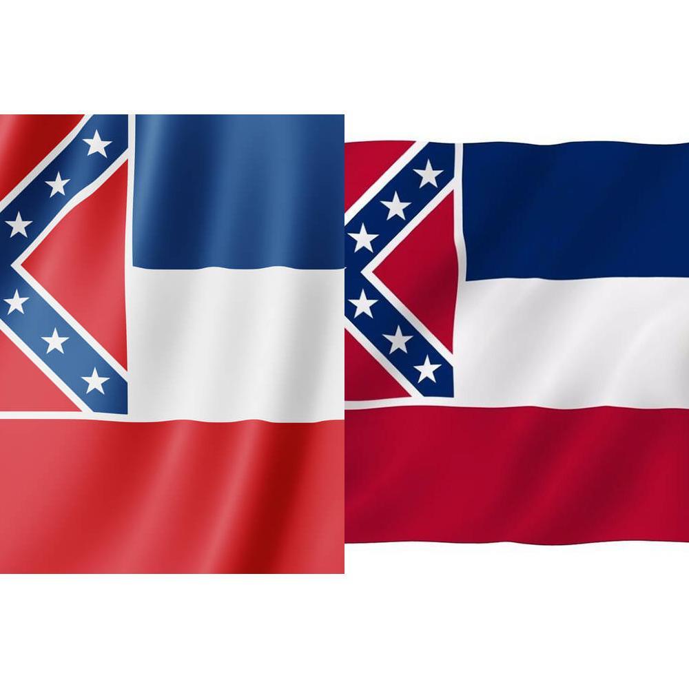 Mississippi Eyalet Bayrağı Ms Devlet Bayrağı 3x5ft Banner 100d 150x90cm Polyester Pirinç Grometler Özel Bayrağı, Ücretsiz Kargo