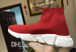 Womens Sock Mens Fashion Shoes Botas Speed Trainer Sneakers Knitting Deslizamento-na alta qualidade Casual Sports Shoe Comfort Chaussures Botas