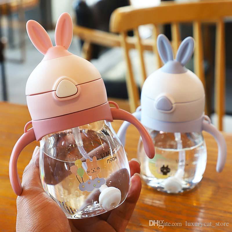 무료 스폰지 브러쉬 270㎖에 용해 귀여운 아기 병 신생아 어린이 음주 간호 병 키즈 주스 물 교육 컵 먹이 알아보기