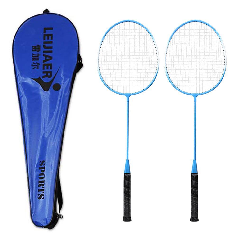 Großhandel 2 Spieler Badminton Schläger Set Indoor Outdoor Sport Studenten Kinder Üben Badmintonschläger Mit Tasche 3 Farben Von Kangshifuwat, $35.0