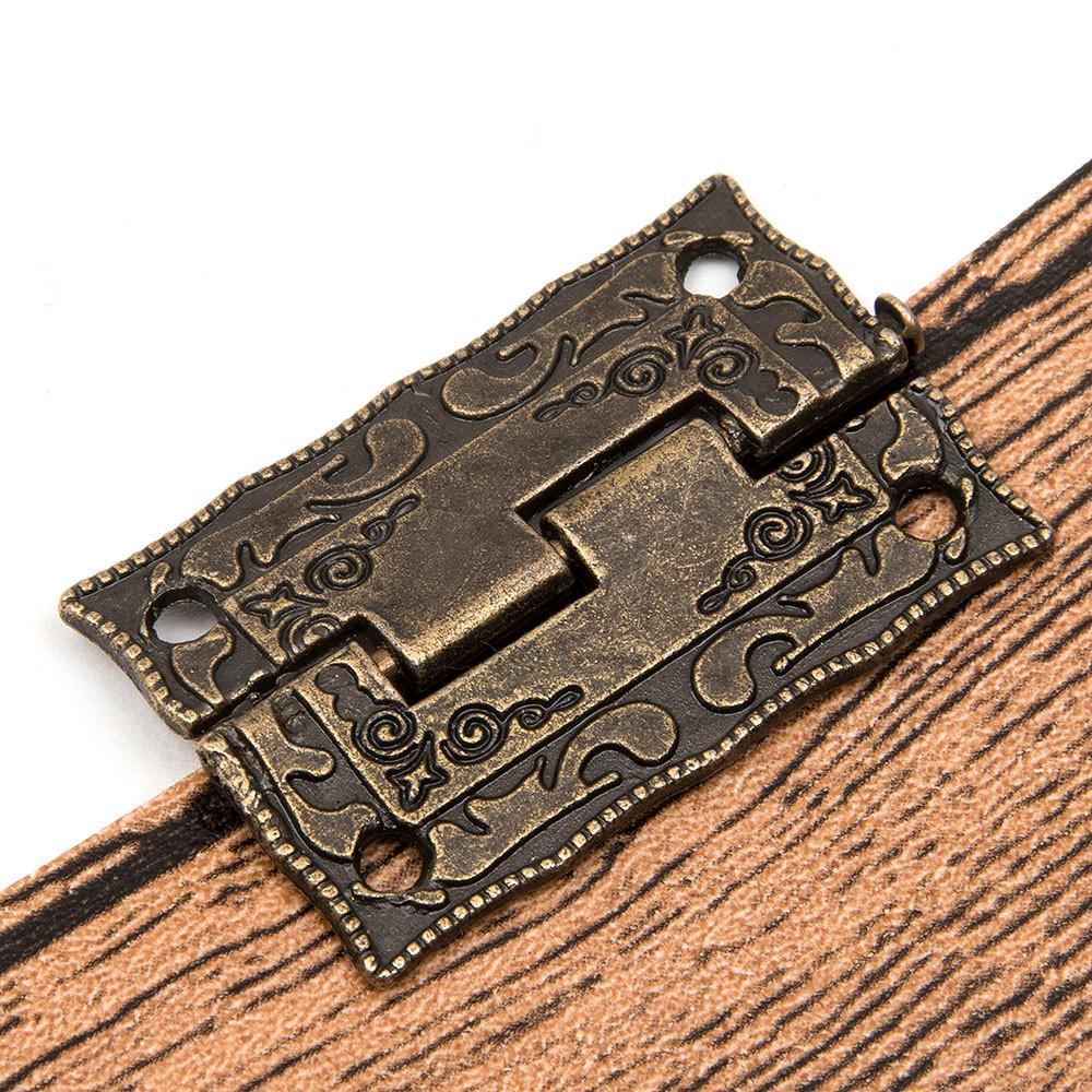 10 قطعة / المجموعة خزانة الباب بعقب يتوقف مصغرة درج البرونزية الزخرفية البسيطة يتوقف ل خزانة التخزين صندوق خشبي خمر