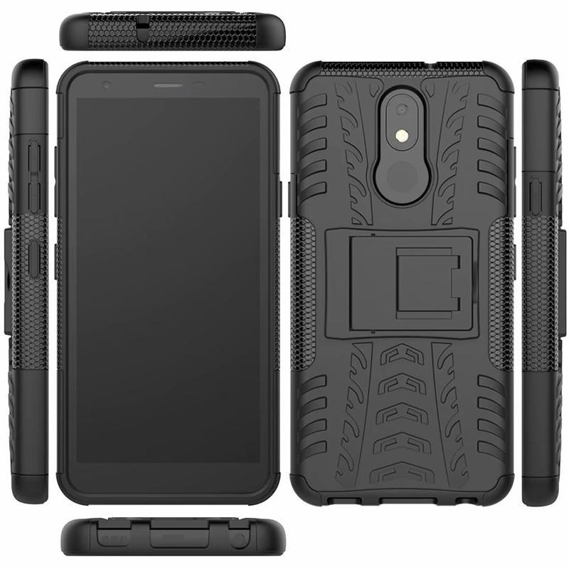 Caso del basamento per il LG K30 2019 (5,45 pollici) Case Cover Heavy Duty Armatura antiurto dura ibrida morbido silicone resistente gomma Phone