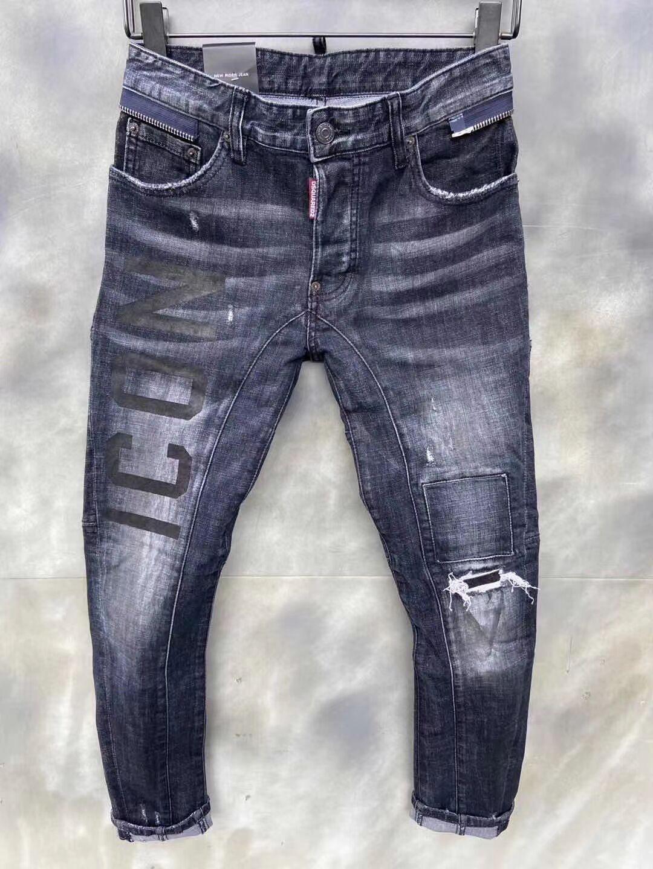 2020 nueva marca de pantalones vaqueros ocasionales de los hombres americanos, el lavado de alto grado, moler a mano puro Europea de moda y, optimización de la calidad DT115-1
