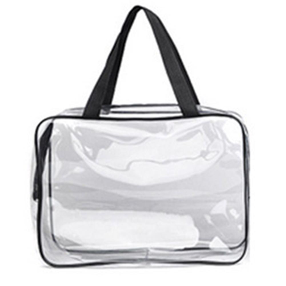 Transparent PVC Cosmetic Bag Women Travel Makeup Bag Zipper Make Up Organizer Storage Pouch Toiletry Beauty Wash Kit Case