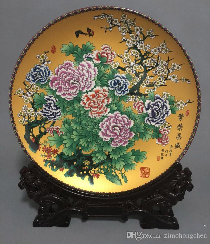 Las flores chinas pastel rica imagen Jingdezhen cerámica antiguos que viven dormitorio sala de gabinete del vino amueblar colección de artículos de 2019