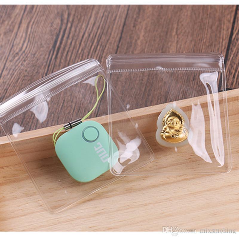 9 * 13cm PVC transparent anti-oxydation Bijoux Jade Emballage Sac en plastique Paquet auto Joint Fermeture éclair Emballage Pochette Polybag