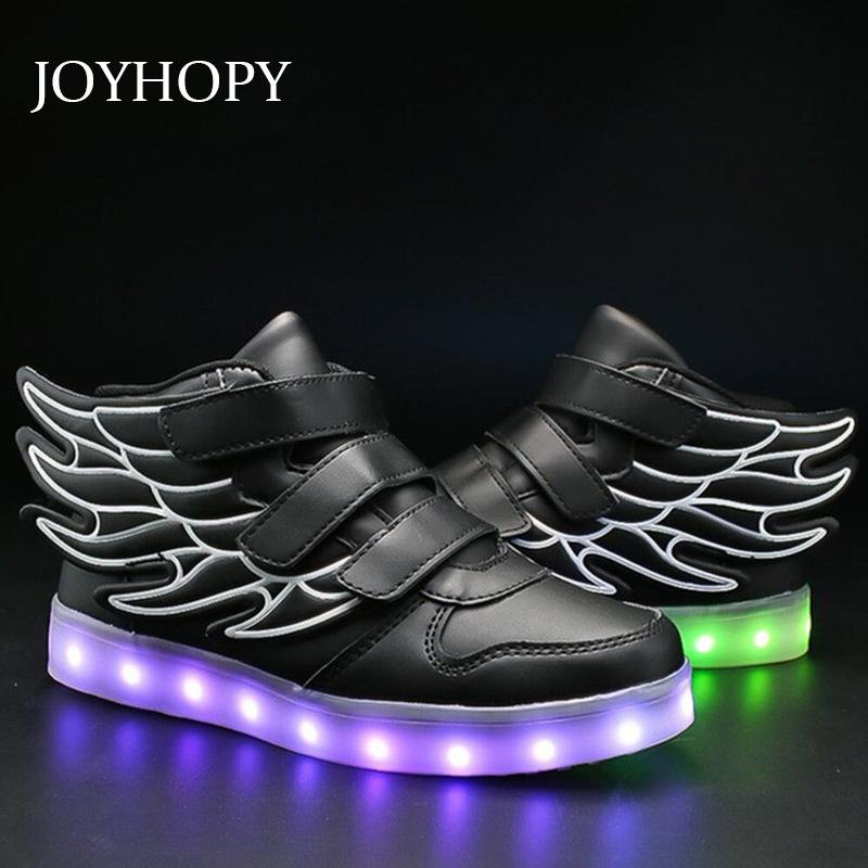 Kids Light Up Shoes With Wing Children