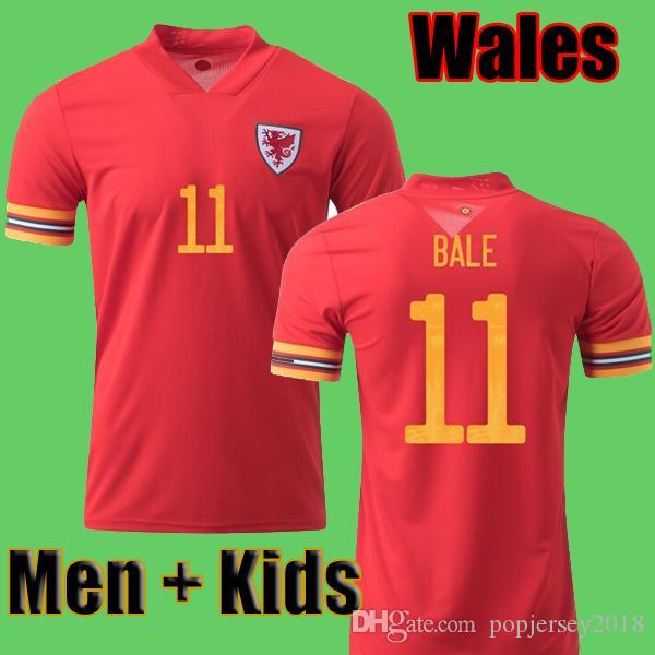 Thailand 2020 Wales Fußball Trikot Euro Cup 2020 Wales Fußball Trikot Fußballtrikot BALE JAMES RAMSEY ALLEN Fußbekleidung