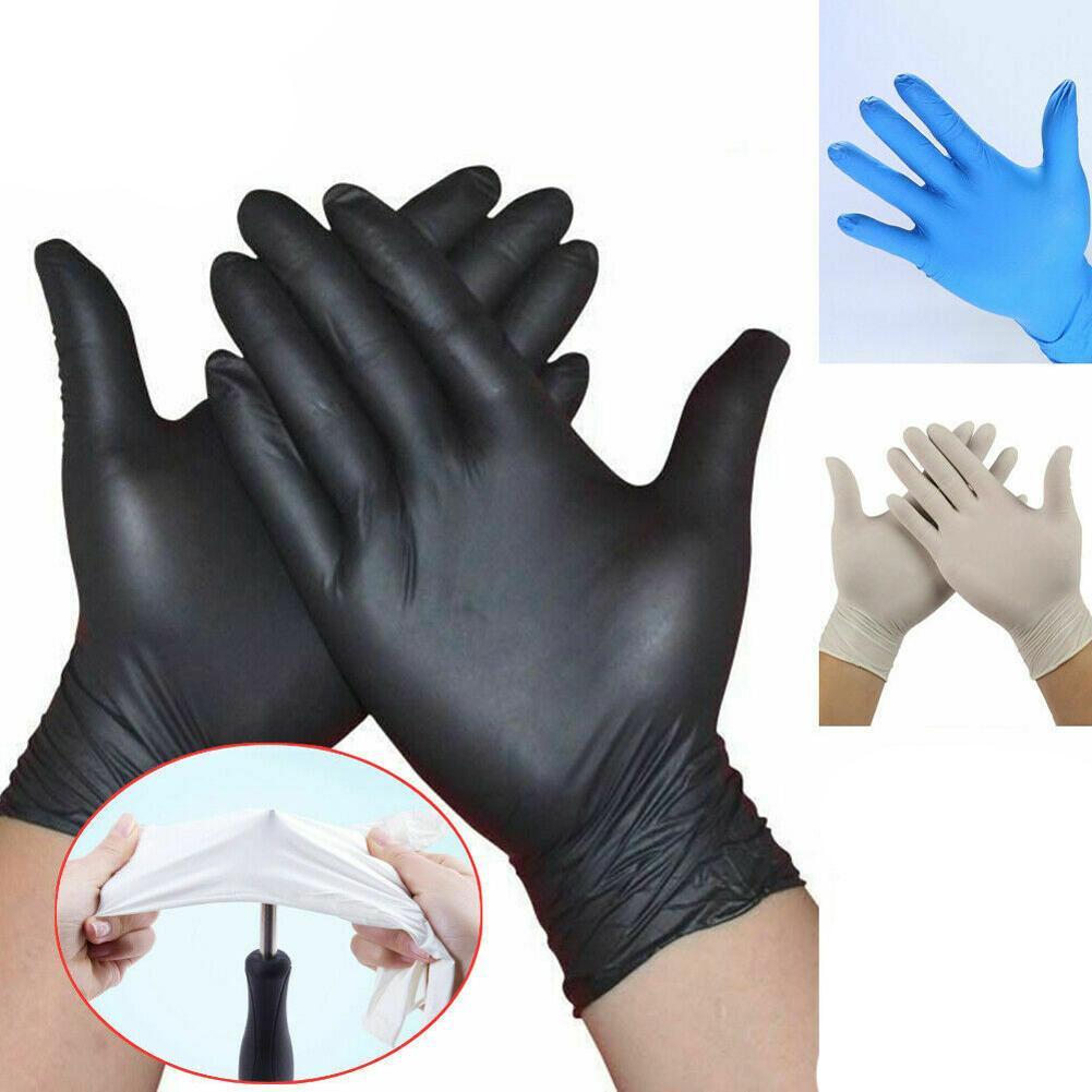100шт одноразовые перчатки нитриловые латексные перчатки мытье посуды домашний сервис Кейтеринг гигиена кухня садовые перчатки для чистки оптом в наличии у нас