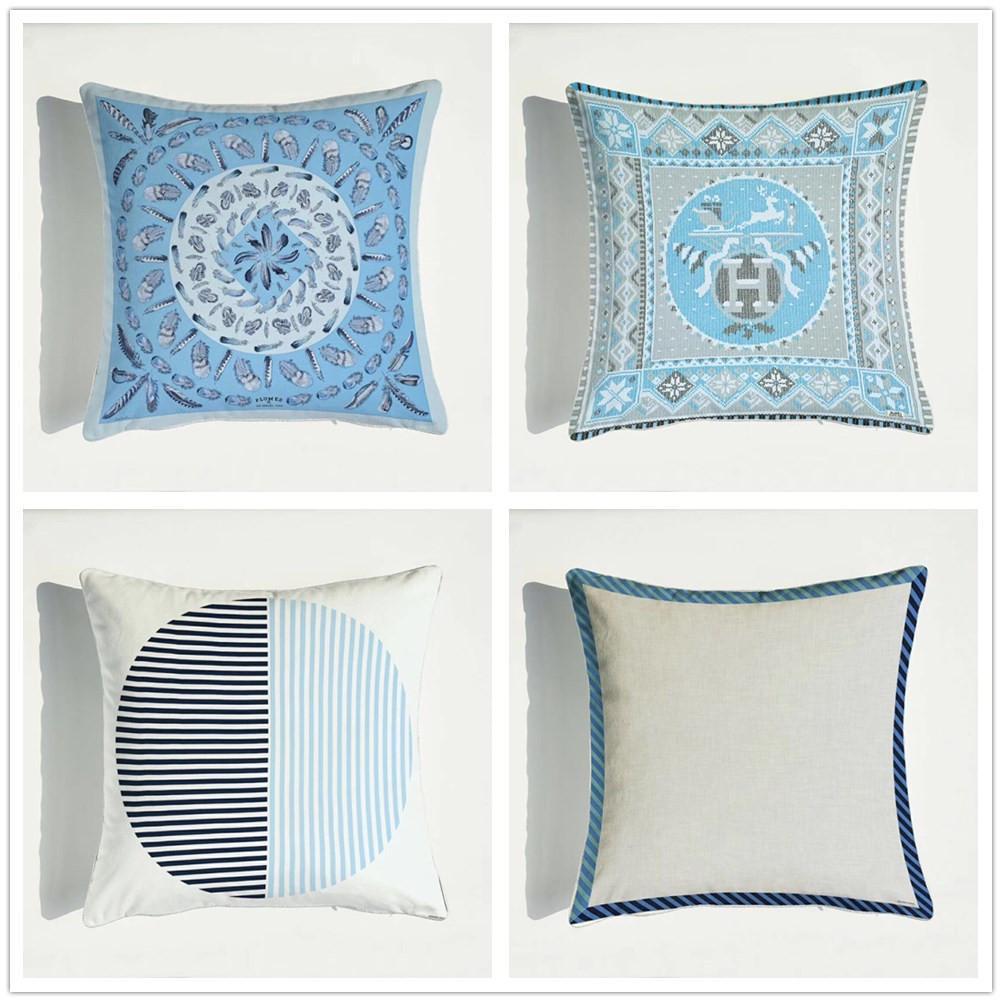 45*45cm Geometric Stripe Decorative Pillow Cover Hotel Cotton Fashion Cushion Cover Throw Pillow Cases Car Chair Sofa Pillowcase